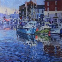 anne-blankson-hemans,-swa---sunrise-over-padstow-harbour