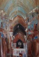 ann-pollard---brown-turquoise-cathedral-framed
