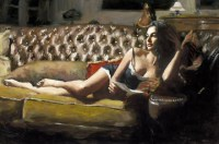 fabian-perez---study-for-saba-with-letter-v